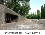 drainage culvert hole system on ... | Shutterstock . vector #712413946
