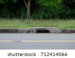 drainage culvert hole system on ... | Shutterstock . vector #712414066