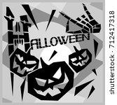 halloween. a poster dedicated... | Shutterstock .eps vector #712417318
