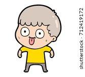 cartoon man staring | Shutterstock .eps vector #712419172