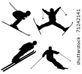silhouette set of different... | Shutterstock .eps vector #71242141