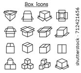 box icon set in thin line style | Shutterstock .eps vector #712421656