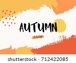 abstract autumn design with... | Shutterstock .eps vector #712422085