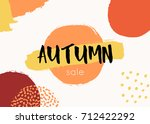 abstract autumn design with...   Shutterstock .eps vector #712422292