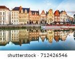 gent  belgium. sunrise in... | Shutterstock . vector #712426546