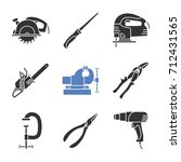 construction tools glyph icons... | Shutterstock .eps vector #712431565