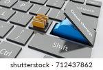 "3d illustration. open ""cloud...   Shutterstock . vector #712437862"