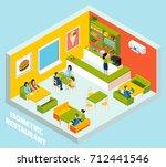 fast food restaurant interior... | Shutterstock . vector #712441546
