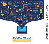 social media design concept... | Shutterstock . vector #712443292