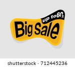 up to 60   off  big sale tag... | Shutterstock .eps vector #712445236