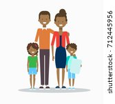 african american family happy... | Shutterstock .eps vector #712445956