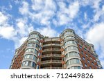 modern condo buildings with... | Shutterstock . vector #712449826
