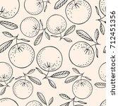 hand drawn seamless pattern... | Shutterstock .eps vector #712451356