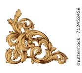 baroque vector of vintage... | Shutterstock .eps vector #712453426