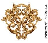 baroque vector of vintage...   Shutterstock .eps vector #712453468