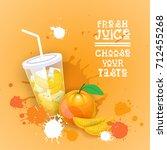 fresh juice logo healthy... | Shutterstock .eps vector #712455268