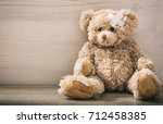 the child is sick concept.teddy ... | Shutterstock . vector #712458385