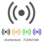 wi fi source icon. vector... | Shutterstock .eps vector #712467268