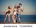friendship happiness summer... | Shutterstock . vector #712469842