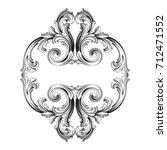 baroque vector of vintage... | Shutterstock .eps vector #712471552
