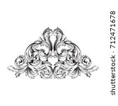 baroque vector of vintage... | Shutterstock .eps vector #712471678
