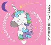 unicorn  | Shutterstock .eps vector #712481332