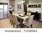 interior shot of a modern... | Shutterstock . vector #71248363