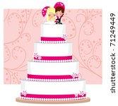 strawberry and cream wedding... | Shutterstock .eps vector #71249449