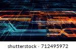 abstract technological...   Shutterstock . vector #712495972