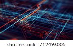 abstract technological... | Shutterstock . vector #712496005