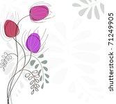 vector greeting card   Shutterstock .eps vector #71249905