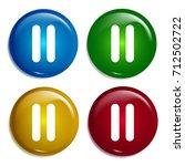 pause button multi color...