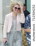Small photo of LONDON - SEP 03, 2017: Emma Rigby Actress seen arriving to the BBC radio two studios in London