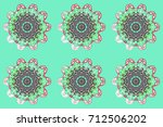 flat design with abstract... | Shutterstock . vector #712506202