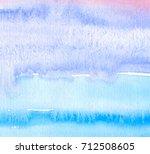 watercolor blue violet color... | Shutterstock . vector #712508605