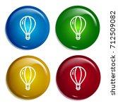 hot air balloon multi color...   Shutterstock .eps vector #712509082