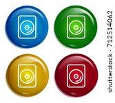dvd player multi color gradient ...