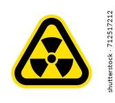 nuclear pollution. vector.  | Shutterstock .eps vector #712517212