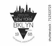 new york  brooklyn modern... | Shutterstock .eps vector #712523725
