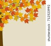 Autumn Maple. Tree With Yellow...