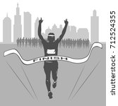 a marathon and a healthy... | Shutterstock .eps vector #712524355