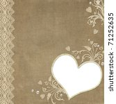 vintage elegant heart frame... | Shutterstock . vector #71252635