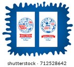 vector dairy foods and... | Shutterstock .eps vector #712528642