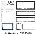 black grunge frames | Shutterstock .eps vector #71253010