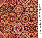 seamless pattern. vintage... | Shutterstock .eps vector #712530778