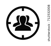 target with audience icon.... | Shutterstock .eps vector #712532008