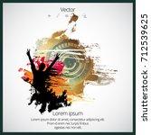 dancing people. music event... | Shutterstock .eps vector #712539625