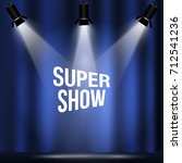 retro light sign. cinema and... | Shutterstock .eps vector #712541236