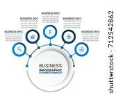 business infographic elements | Shutterstock .eps vector #712542862
