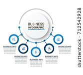 business infographic elements | Shutterstock .eps vector #712542928